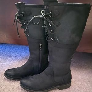 Woman's Ugg 'Elsa' tall leather boots size 7.5